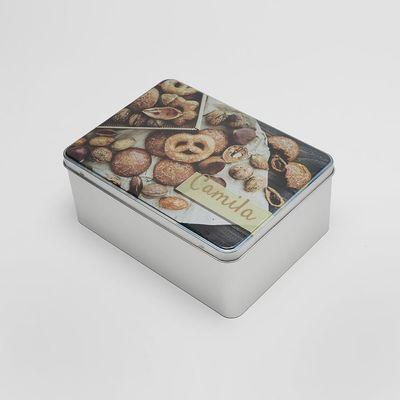 caja para galletas de metal personalizada
