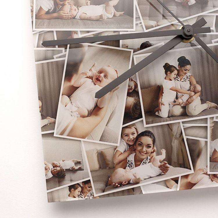 Personalized Square Photo Clock