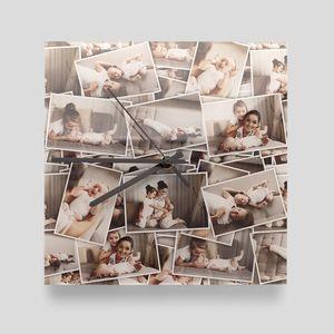 eckige fotouhr bedrucken für oma und opa