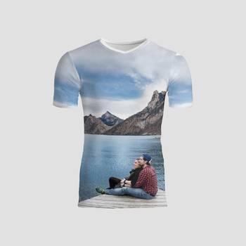 オリジナルメンズタイトTシャツ