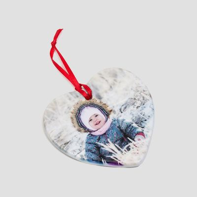 personalised valentine ornament