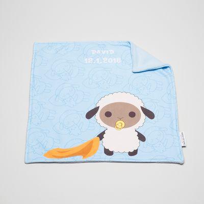 copertina per neonato in pile personalizzata