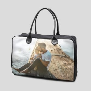 Bröllopspresent läderbag med tryck