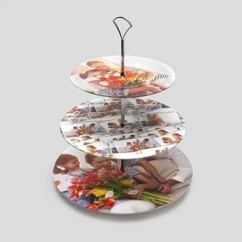 muffinständer mit eigenen fotos bedrucken lassen tischdeko