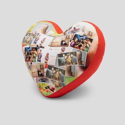 cojín corazón fotocollage