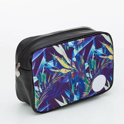 custom leather wash bags