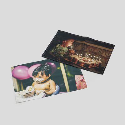manteles de tela navideños con fotos