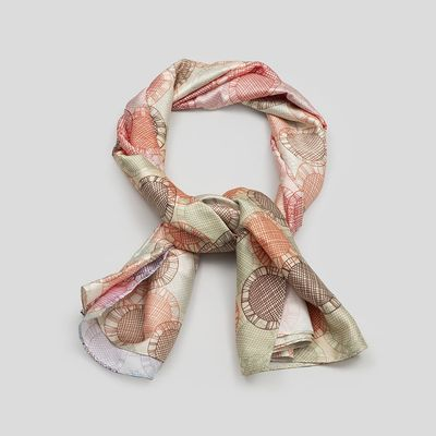 gepersonaliseerde zijden sjaal