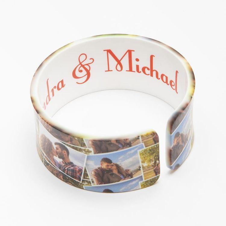 personalised photo bracelet up close