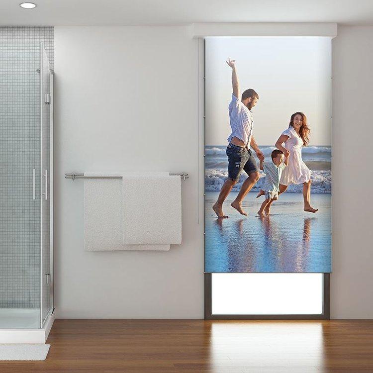 rollo für badezimmer selbst gestalten