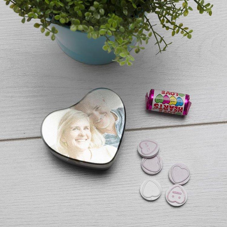 caja de hojalata corazón personalizada
