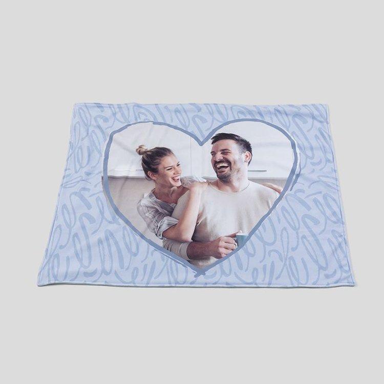 Customized heart blanket