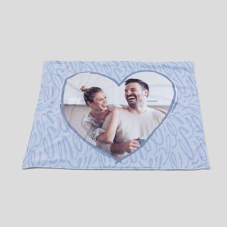 personalised love heart blanket