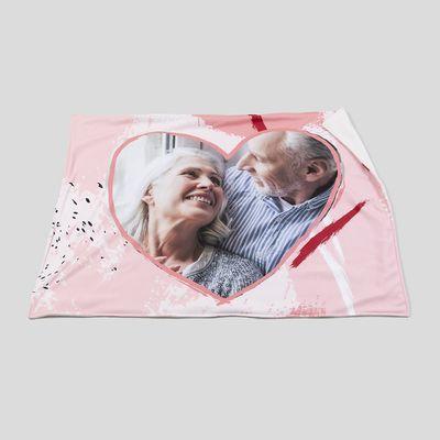manta personalizada amor fotos