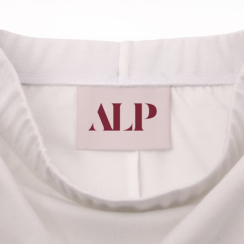 printed pencil skirt brand label