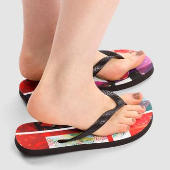 personalised flip flops