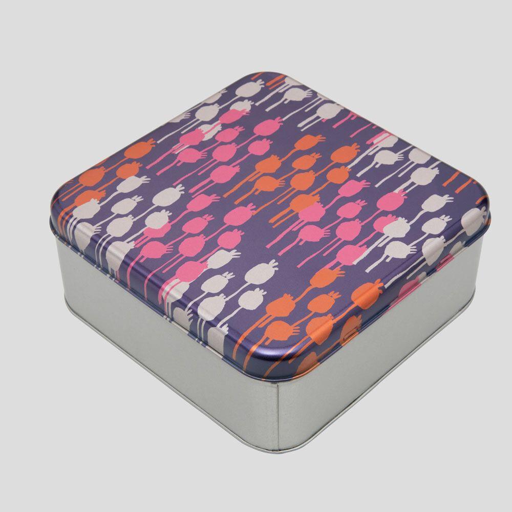 シルバー缶ボックス
