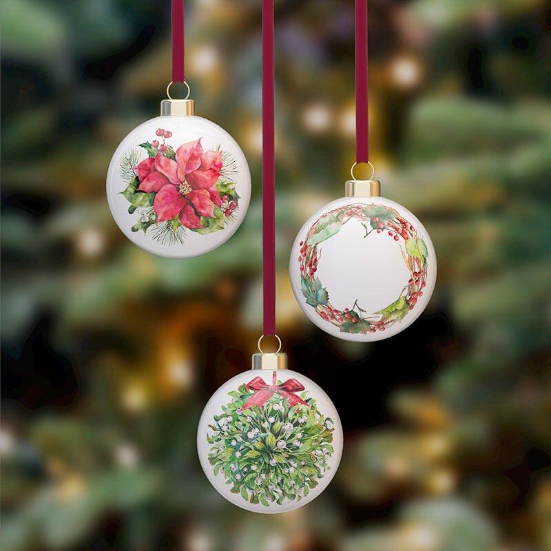 bone china custom christmas baubles new zealand