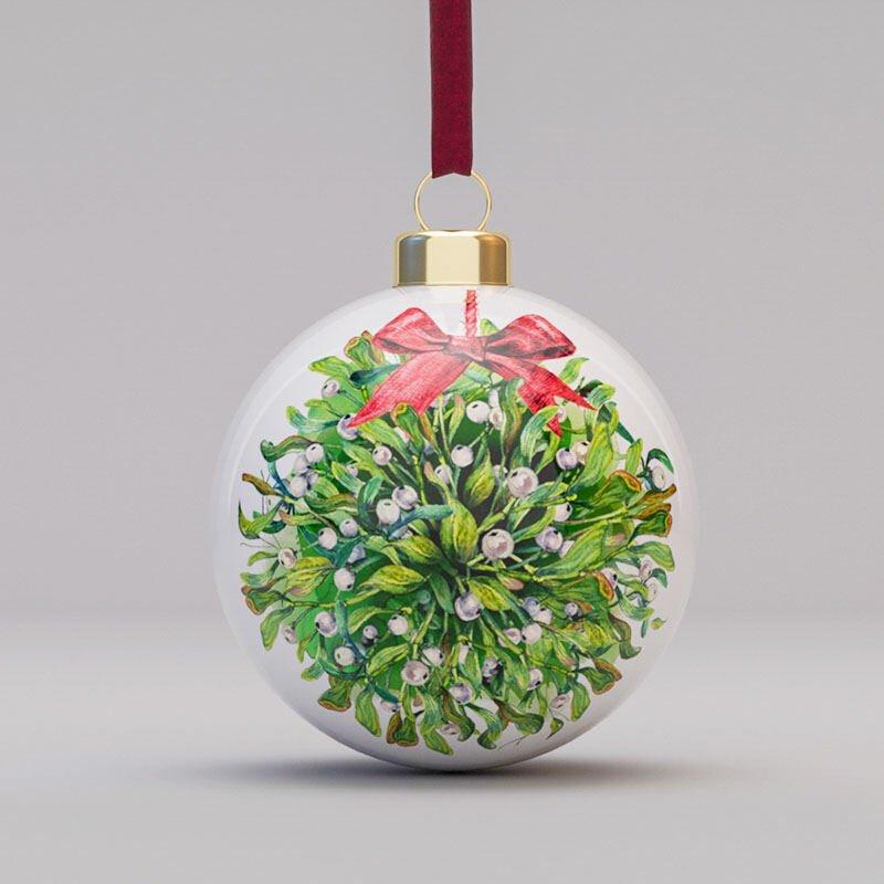 Pallina di Natale Personalizzata in Ceramica