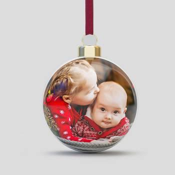 クリスマスツリーボール 写真プリント