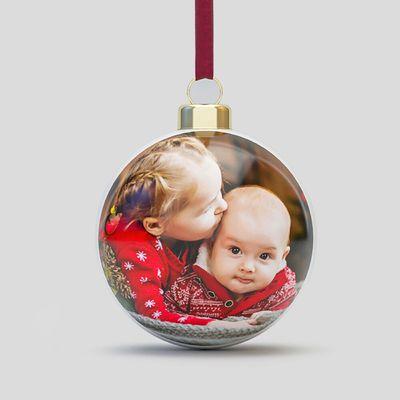 Weihnachtsbaumkugeln mit Foto