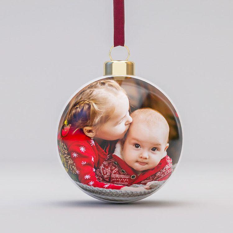 gepersonaliseerde porseleinen kerstballen