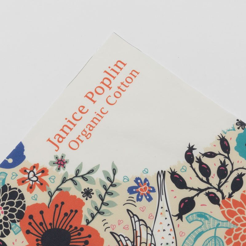 poplin organic cotton fabric digital print on demand