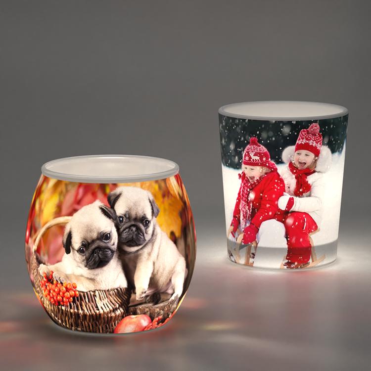 gepersonaliseerde kaarsenhouders kerstthema