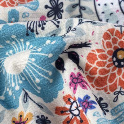 custom printed chenille fabric