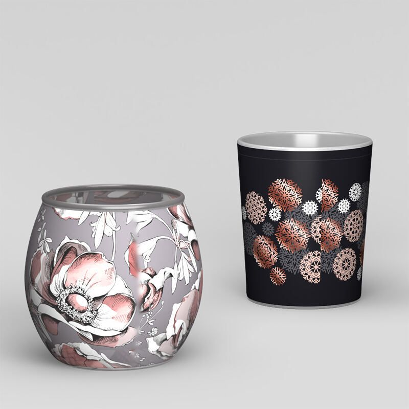 tealight holders with seam