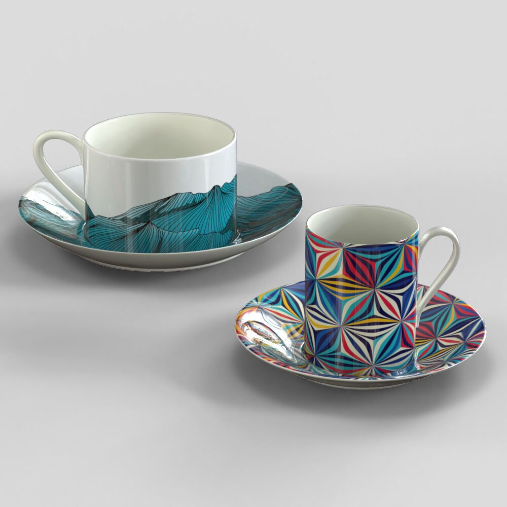 Tasse und Untertasse bedrucken
