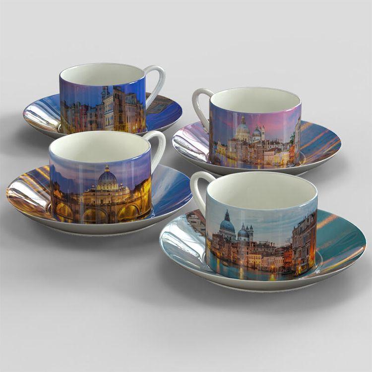 Espresso mug print with holiday photo montage