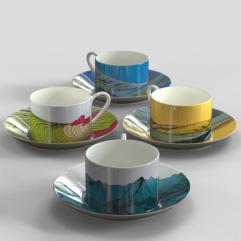 コーヒーカップセット 印刷