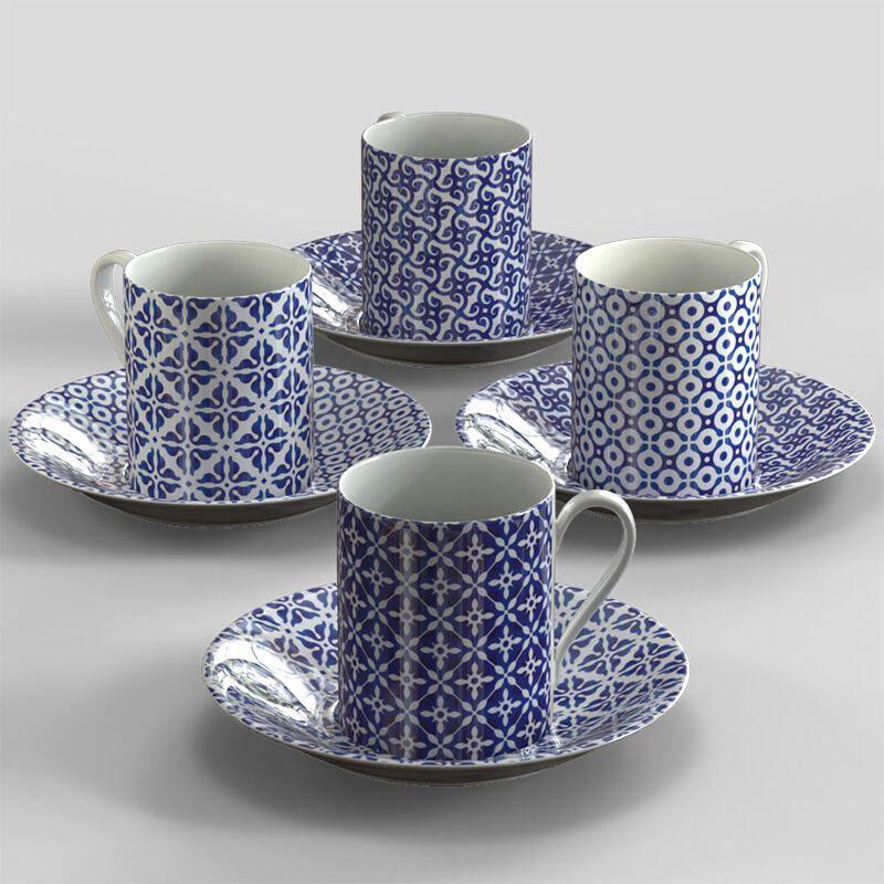 Tasse personnalisable avec design géométrique