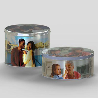 Boîte à biscuits ronde personnalisée