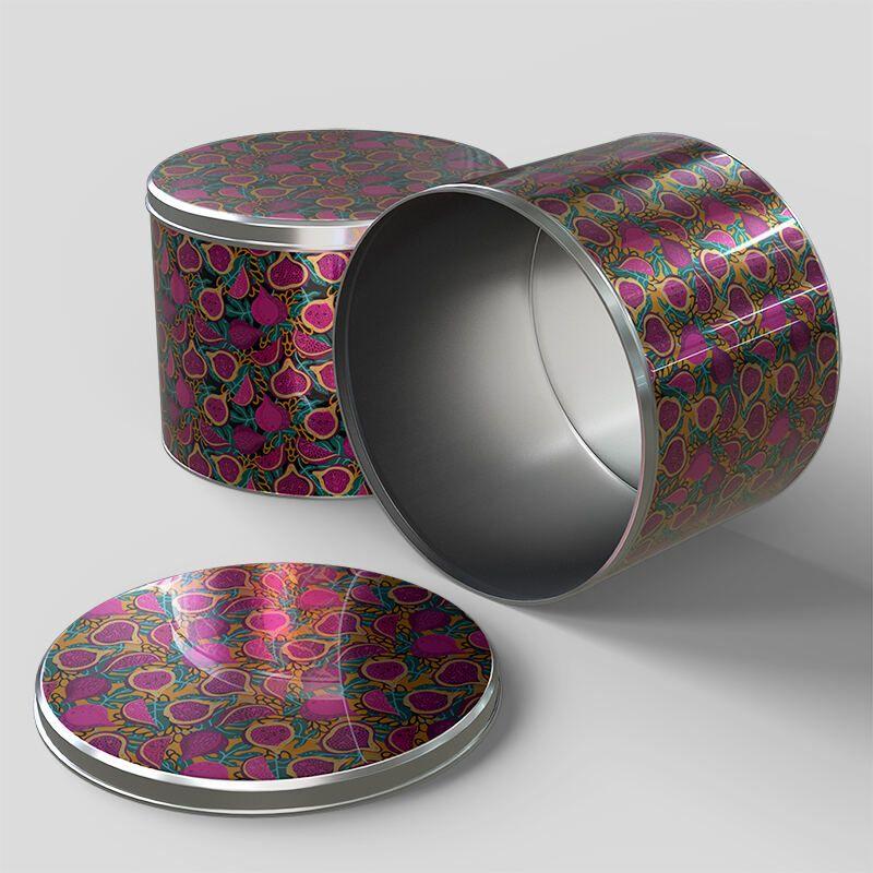 stampa su contenitori tondi in metallo