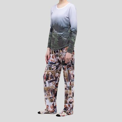 personalised ladies pyjama set