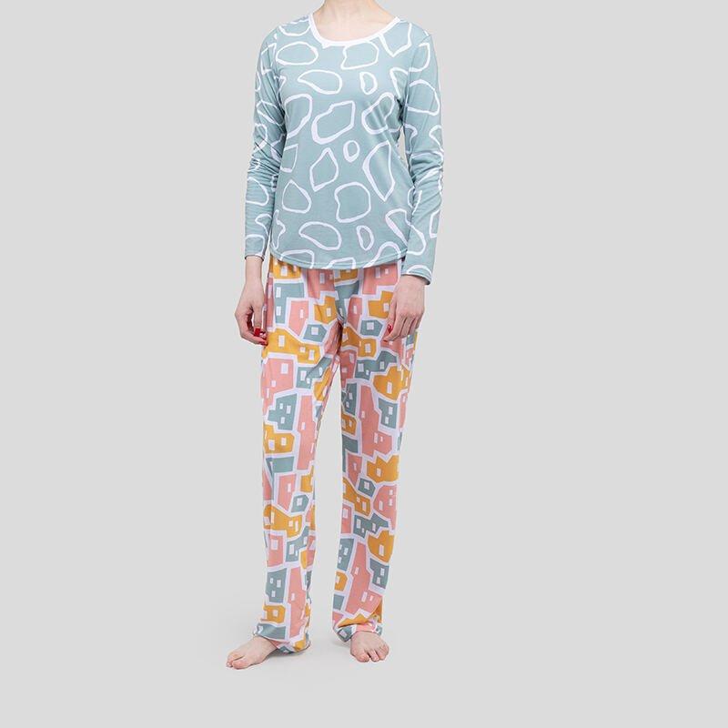 printed pajama set US