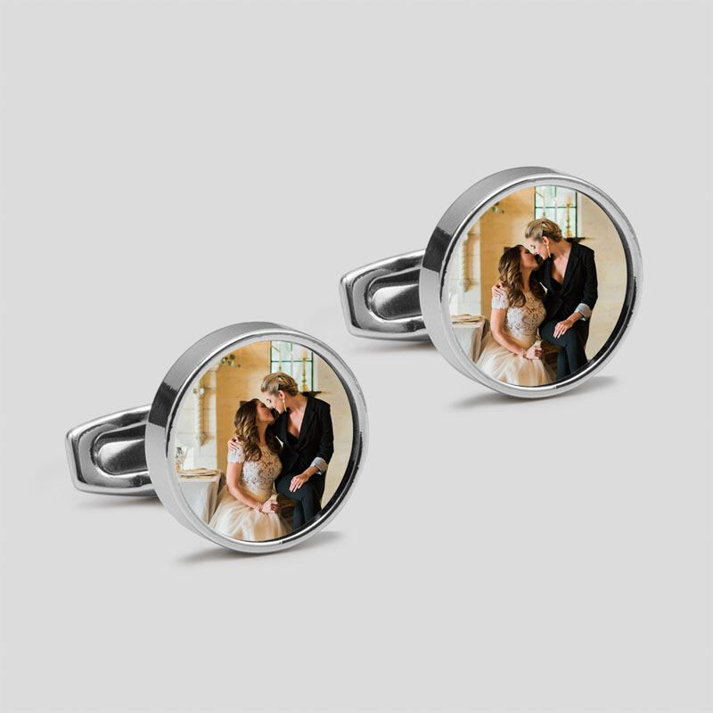 Grandpa Of The Groom Cufflinks Personalized Cufflinks Custom Cufflinks Photo Cufflinks Wedding Cuff links Wedding Keepsake