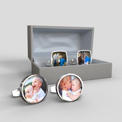 gemelos personalizados fotos aniversario