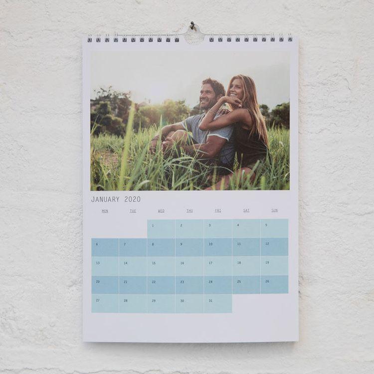 Calendario personalizado romántico