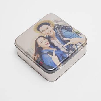 Scatola in alluminio personalizzata con foto