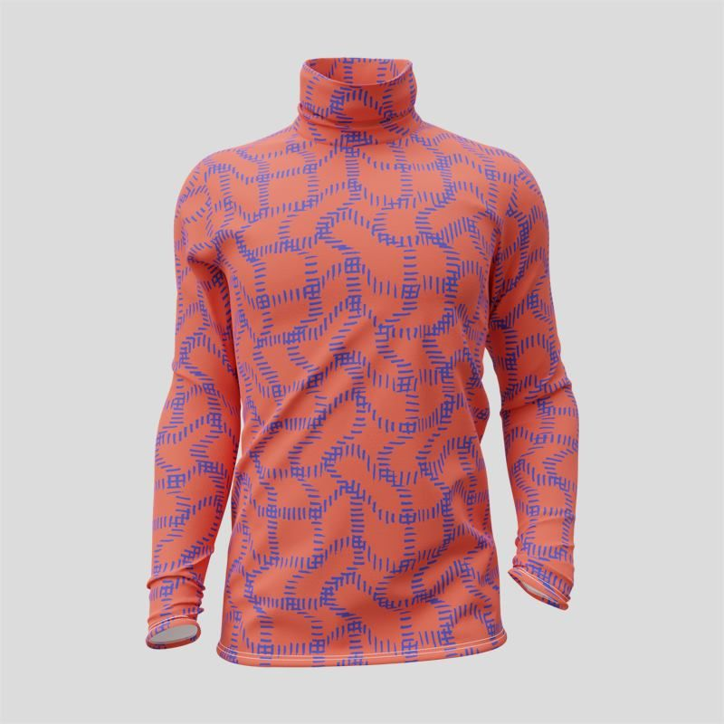 T-shirt à col roulé et manches longues personnalisé avec votre design