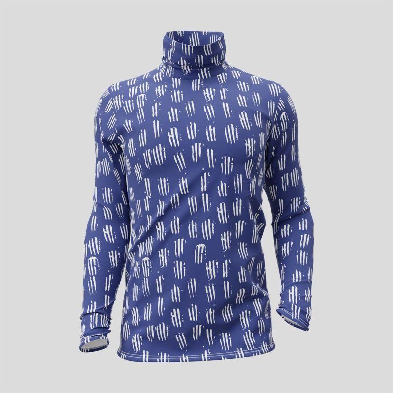 T-shirt personnalisé à col roulé et manches longues