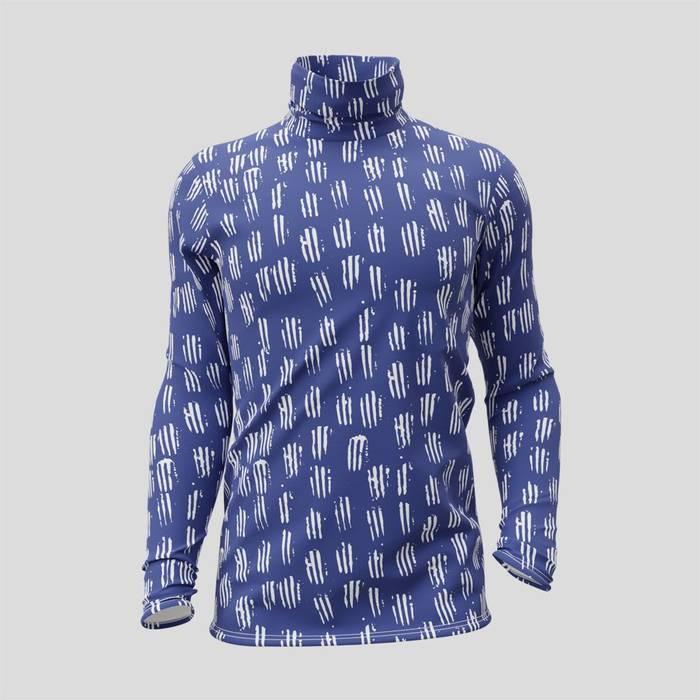 T-shirt personnalisé col roulé manches longues