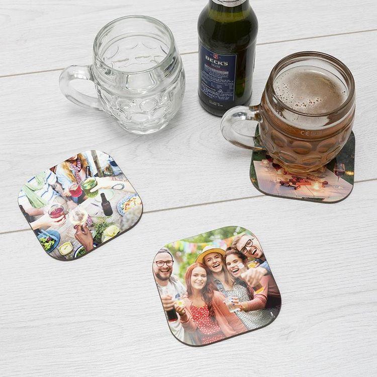 pack of beer coasters personalised