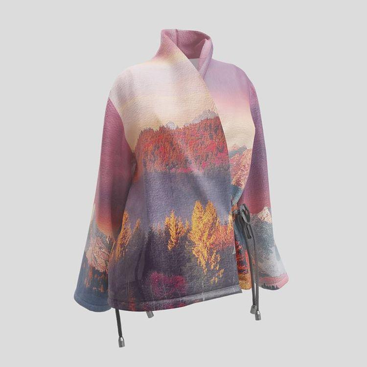 Veste blazer personnalisée avec photo de paysage