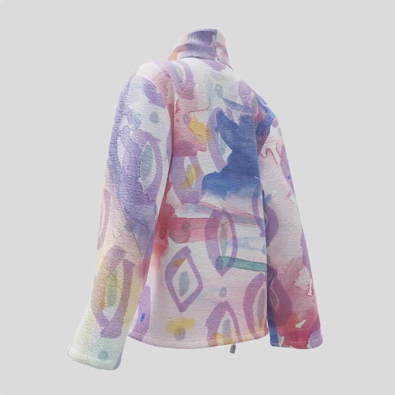 custom wrap blazer printed