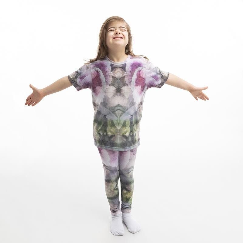 Legging imprimé avec dessin pour fille