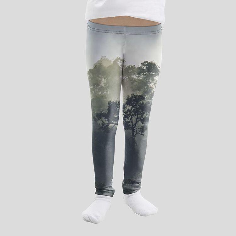 Legging personnalisé pour fille avec photo d'arbres